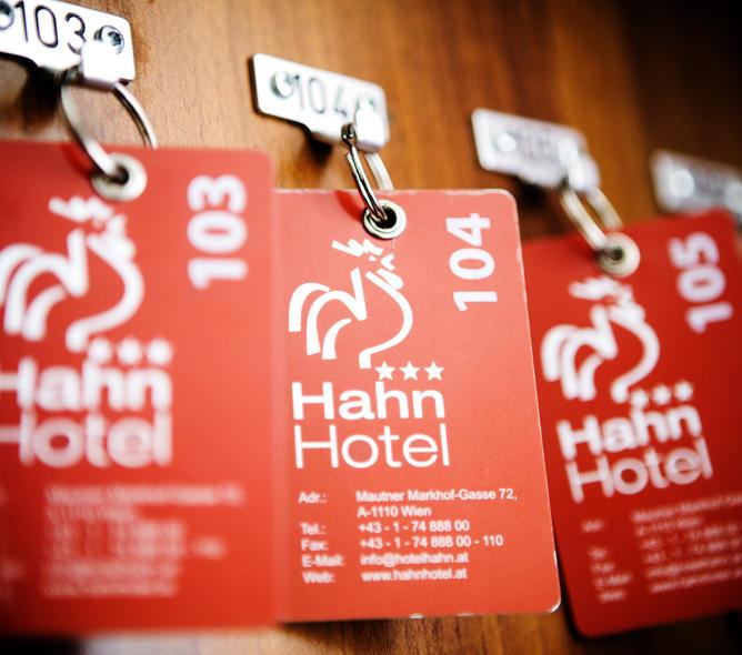 Zimmerschlüssel im Hotel Hahn