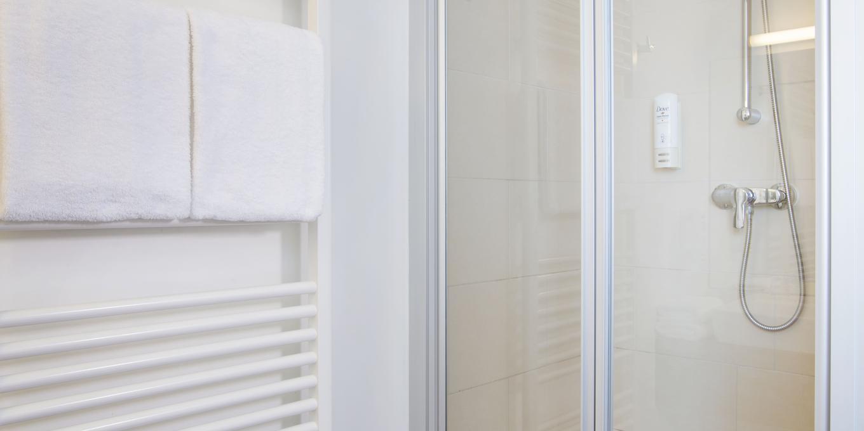 Badezimmer im Hahn Hotel Vienna