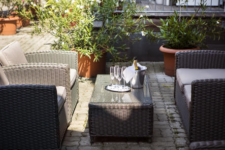 Gemütliche Loungemöbel im Garten